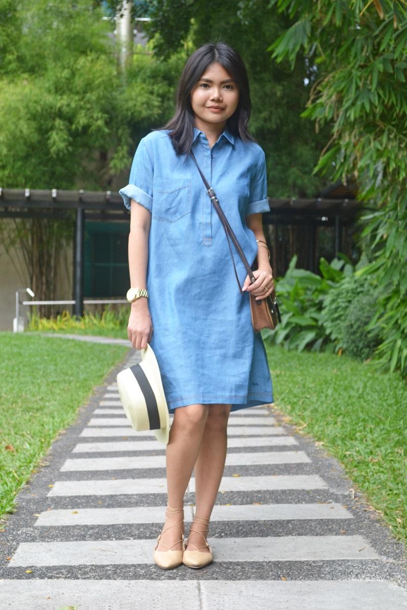 Blue dress outfit ideas combat