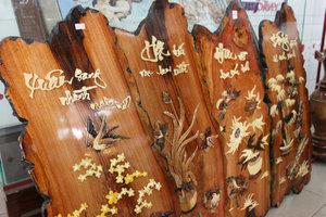Four season wood paintings (souvenirs)