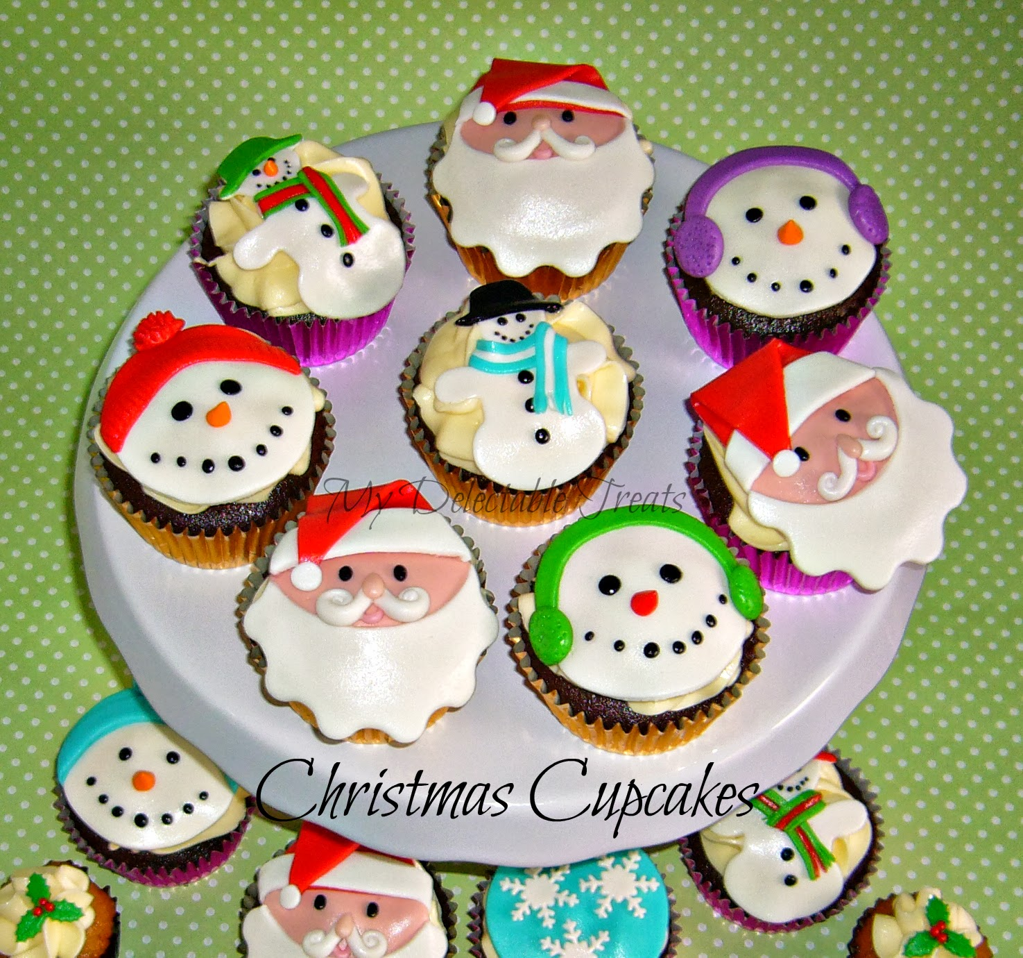 My delectable treats cupcake toppers for christmas part 1