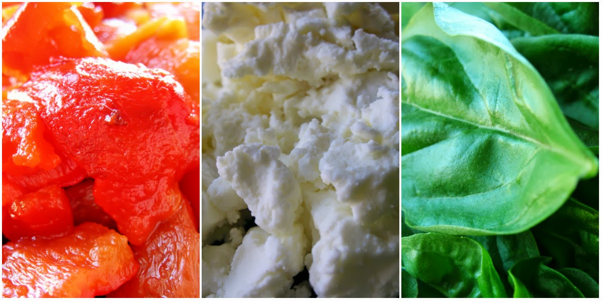 Basil: Roasted Red Pepper and Goat Cheese Alfredo