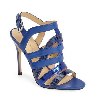 Ivanka Trump Blue Strappy High Heeled Shoes