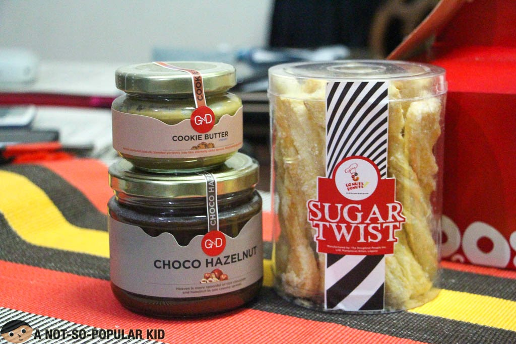 Cookie Butter and Chocol Hazelnut Spread + Sugar Twist by Gonuts Donuts