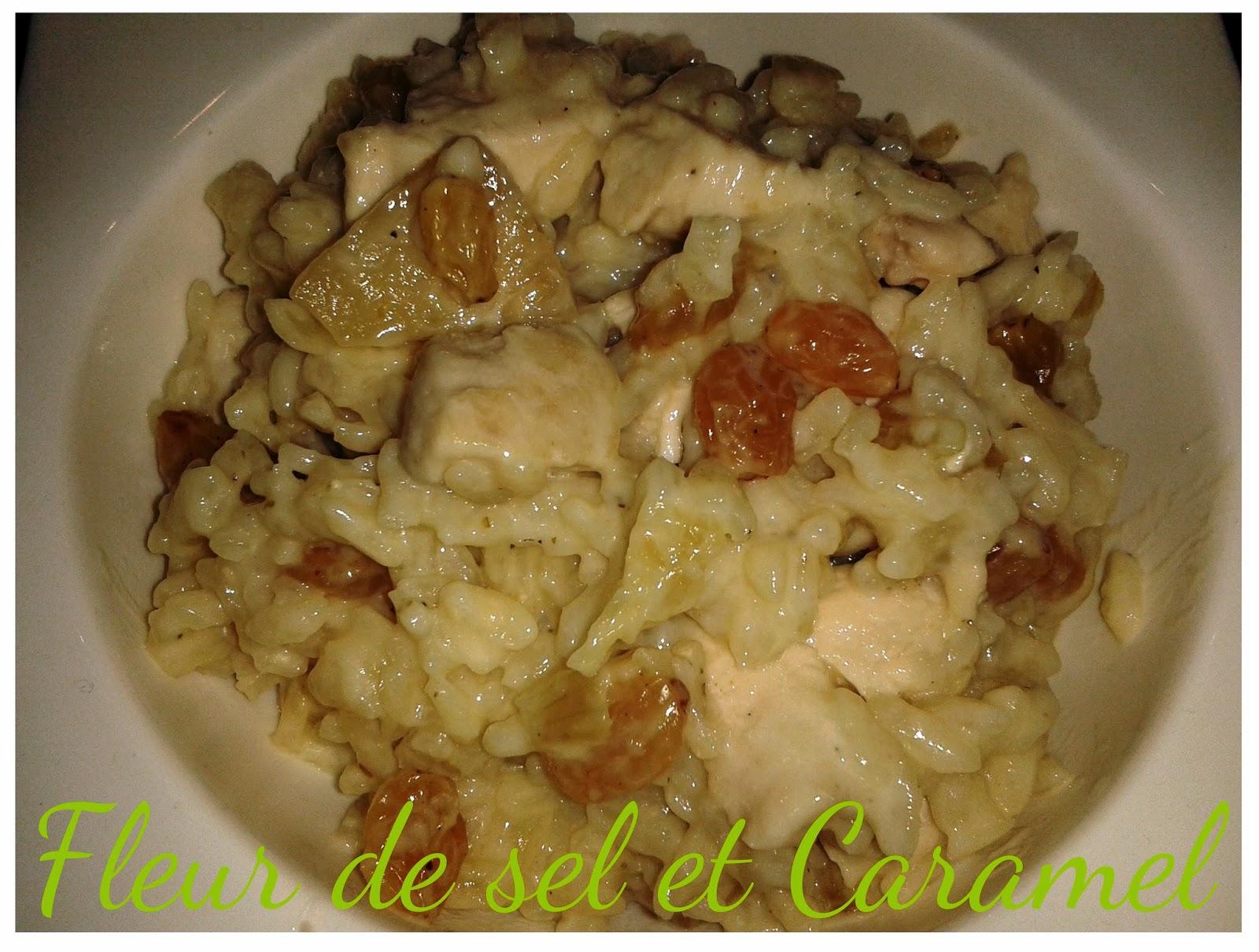 Ronde des blogs d'hiver - Risotto poulet et ananas