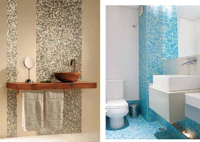 Blog da Arquiteta Pastilhas de vidro Dicas de uso! -> Banheiro Com Pastilhas Na Pia