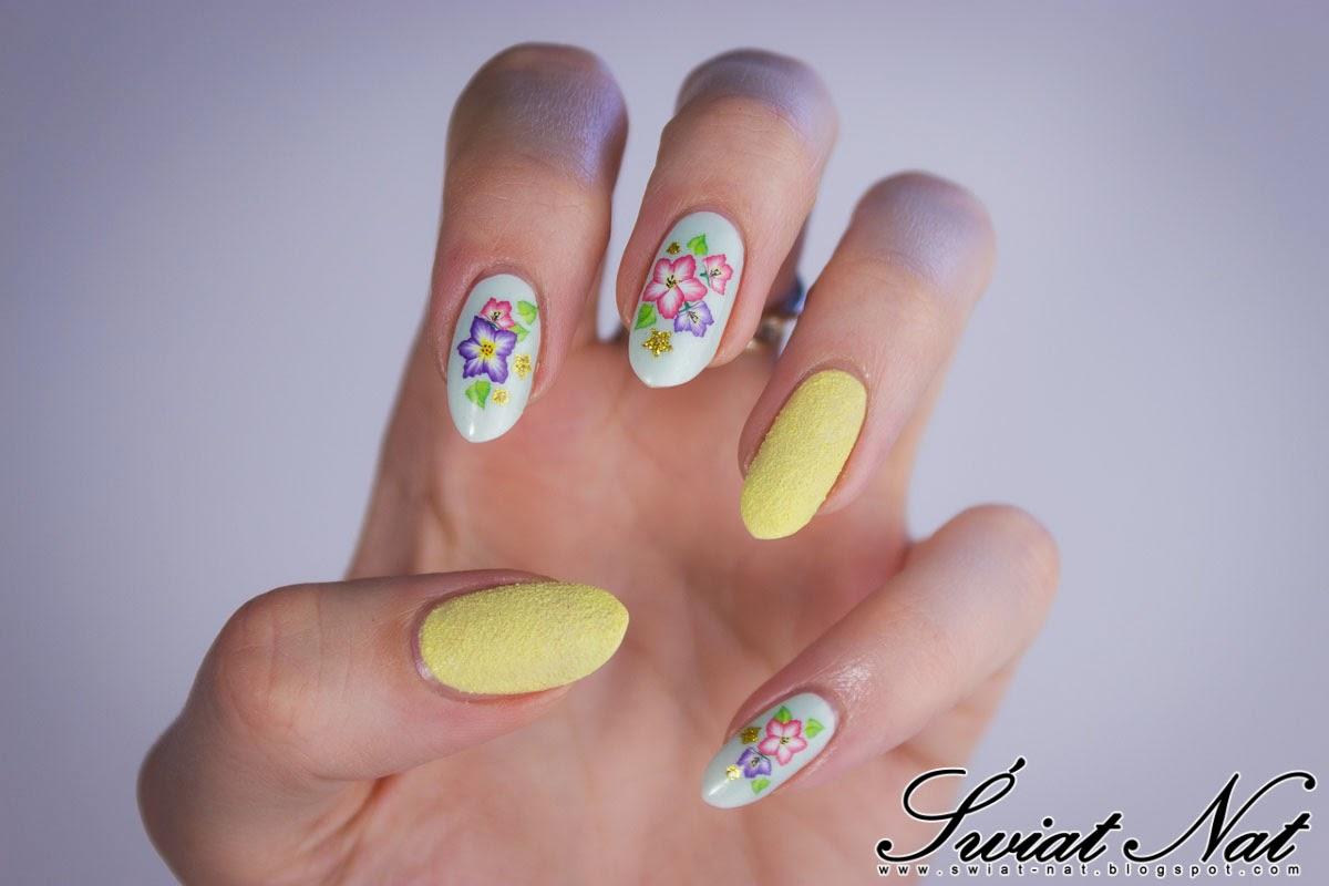 Mani manicure nails nails nailart sally hansen piasek