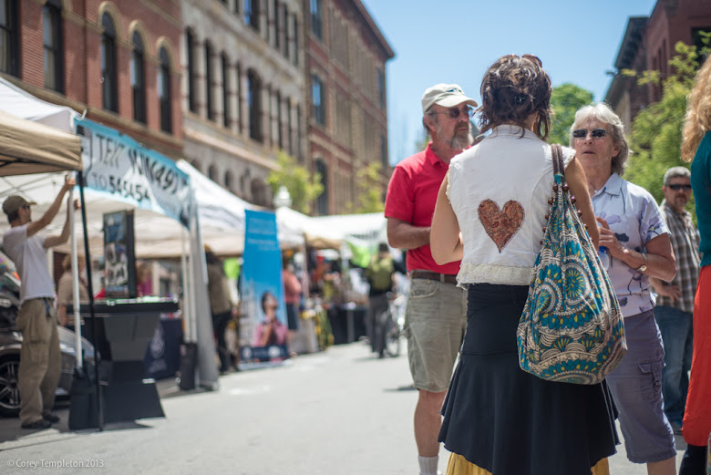 Portland, Maine Old Port Festival Heart Shirt. Photo by Corey Templeton.