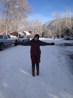 ruas de aspen com neve