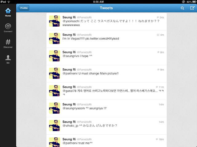 Big Bang Seungri tweets 121119