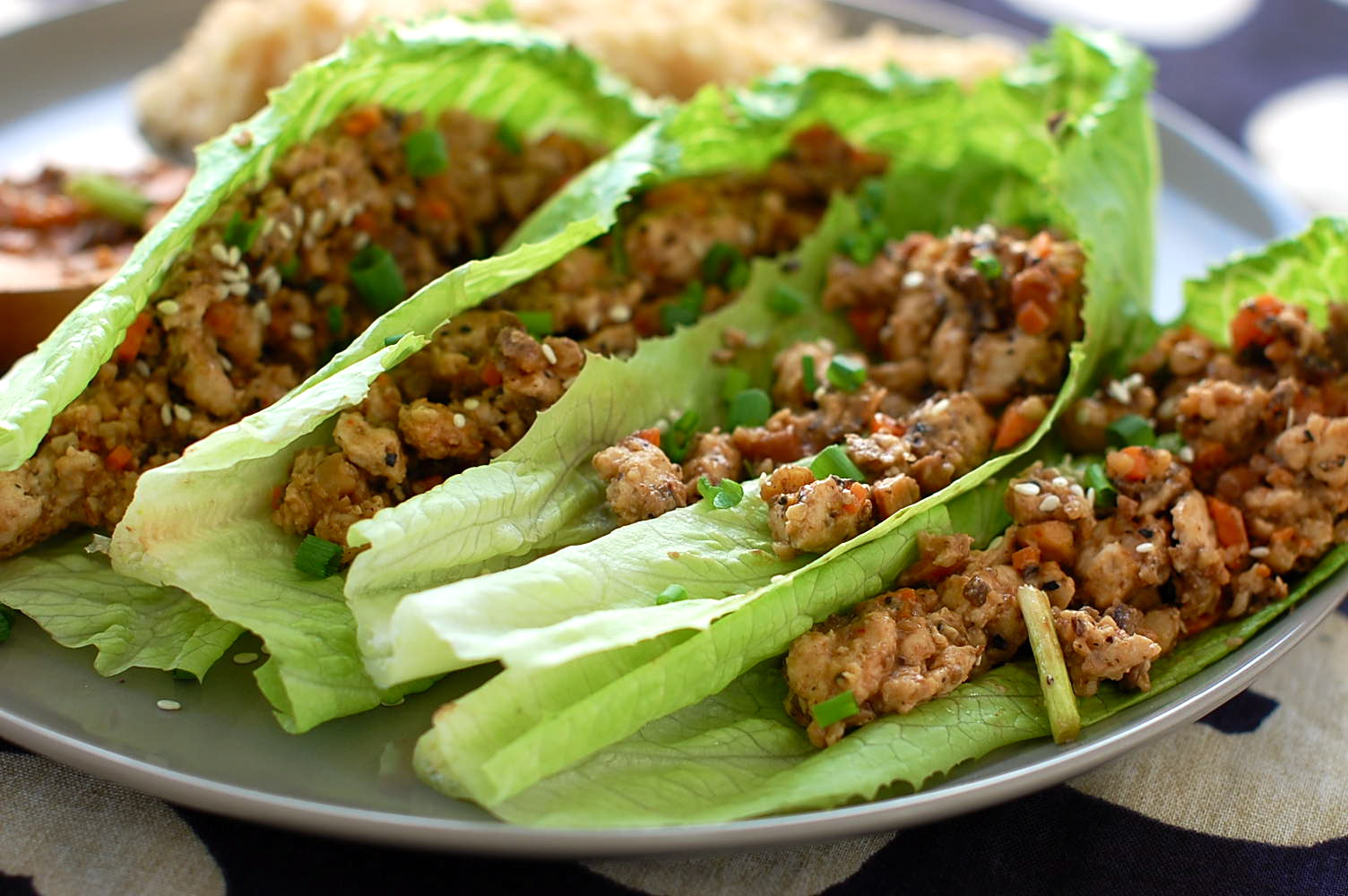 lettuce cups mini chicken lettuce wraps asian chicken lettuce wraps ...