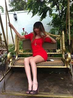 Votey Teav Khmer Girl Sexy Red Robe 4