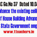 PRC Go 37 Housing Loans-Enhance the existing ceiling of House Building Advance