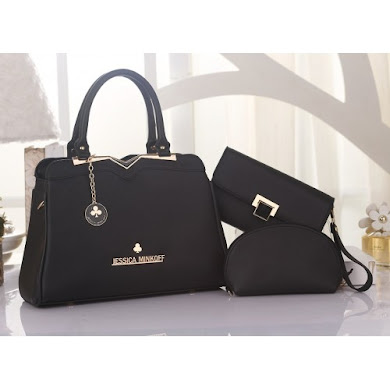 JESSICA MINKOFF BAG ( 3 in 1 Set ) - BLACK