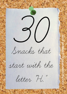 food starts with h, preschool letter of the week, homeschool snack ideas