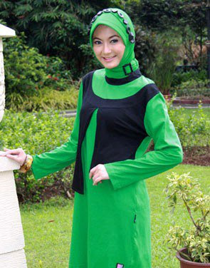 Zenitha Koleksi Busana Muslim Ukuran Big Size hijau