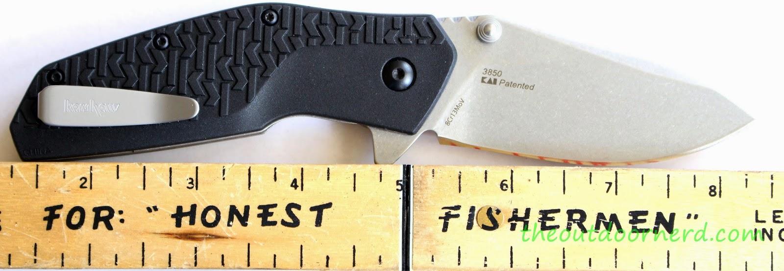 Kershaw Swerve EDC Pocket Knife: Next To Ruler