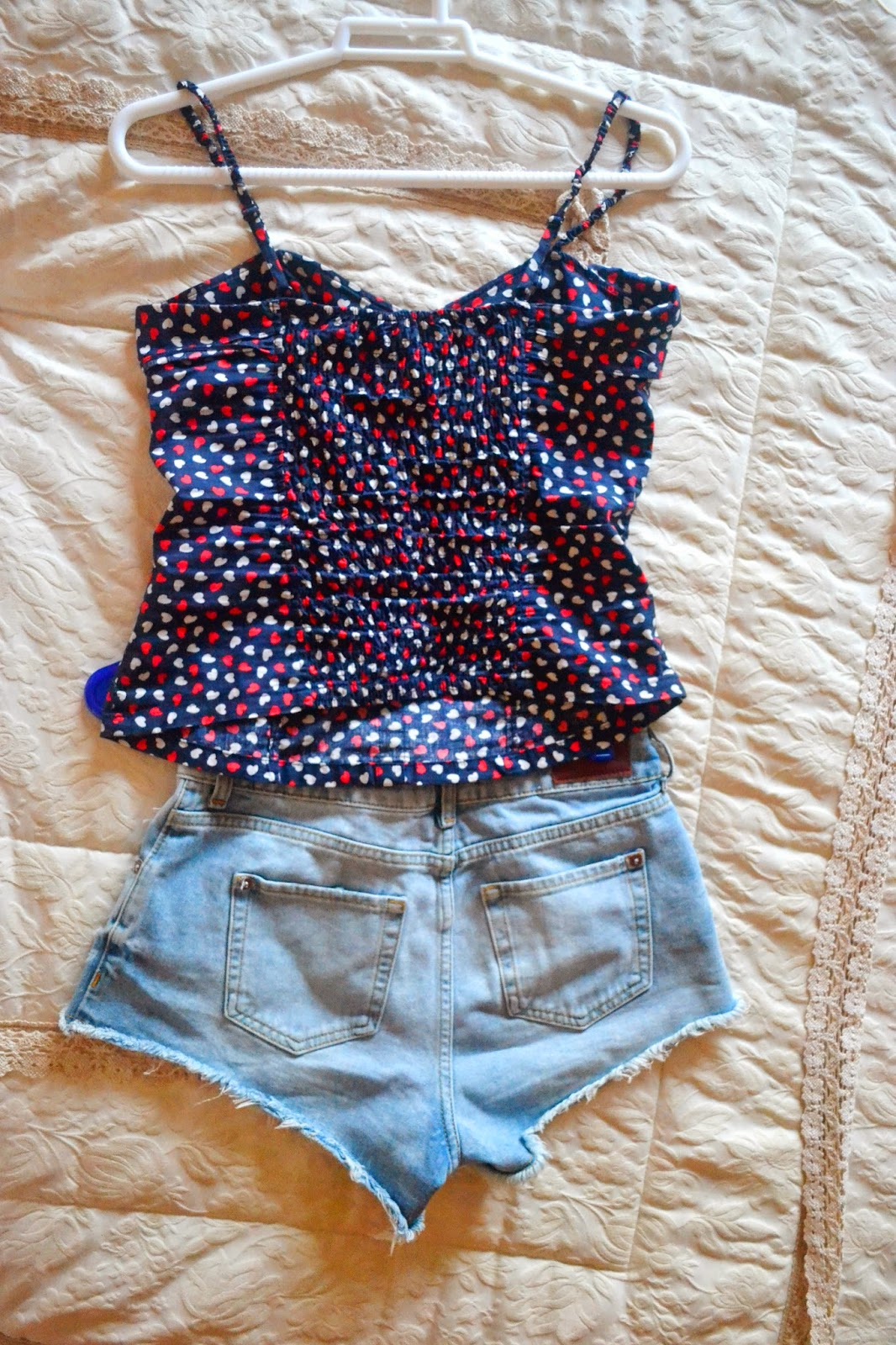 Shorts and top for spring