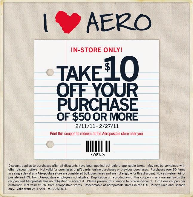 Aeropostale coupons