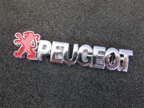 emblem tulisan peugeot ukuran 8x1.5cm