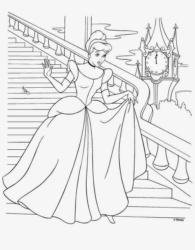 Livro com desenhos da Cinderela para colorir Hello Kids - imagens para colorir da cinderela