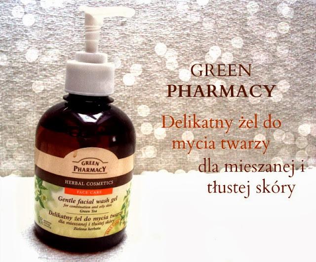 Elfa, Green Pharmacy, Delikatny żel do mycia twarzy do skóry tłustej i mieszanej z zieloną herbatą