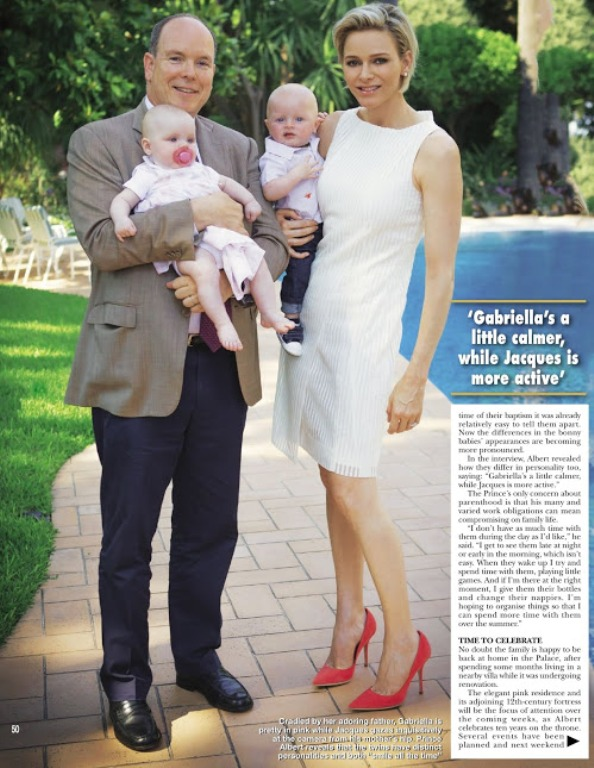 Princess Charlene, Prince Albert And Their Twins In 'Hello' Magazine