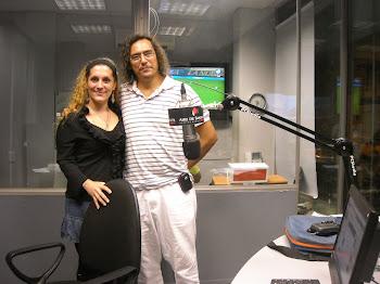 """En el Estudio de radio de """"España en el Aire de Santa Fe"""" 91.1 - Santa Fe ( capital)"""
