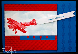 Plane and Simple Blue Skies Card