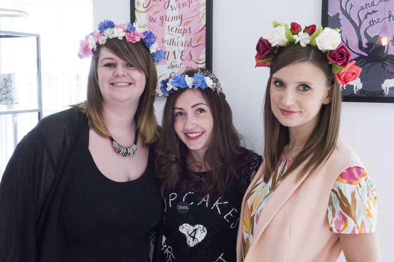 Claireabellemakes Craft Party | Rhode Island | Flower Crowns