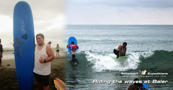 First Surf at Sabang Beach, Baler - Schadow1 Expeditions