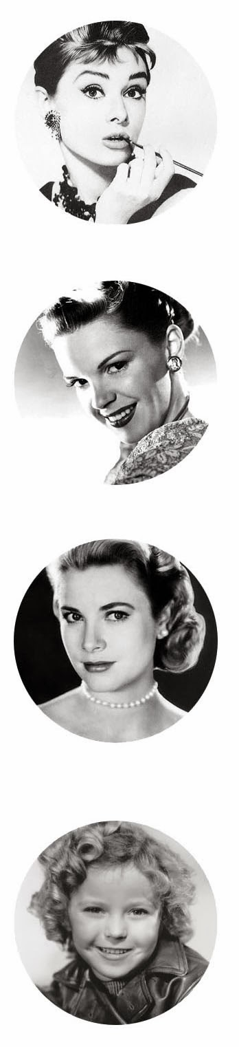 Vintage actress free digital bottle cap images