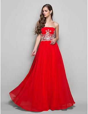 gaun malam merah