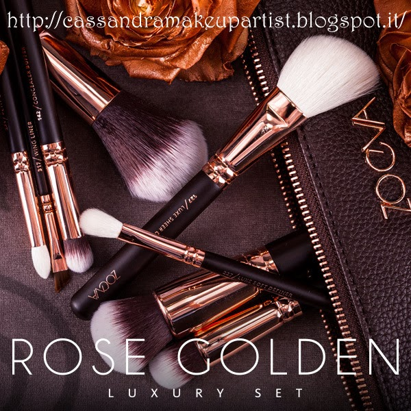 ZOEVA - ROSE GOLDEN Luxury Set - 106 Powder / 102 Silk Finish / 110 Face Shape / 127 Luxe Sheer Cheek / 142 Concealer Buffer / 227 Soft Definer / 231 Petit Crease / 317 Wing Liner