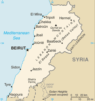 Political Map of Lebanon Pictures Middle East Countries Maps and