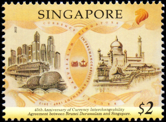 Singapore-Brunei Joint Issue - 40th CIA anniversary commemorative note issued in 2007 Stamp (S$2.00)