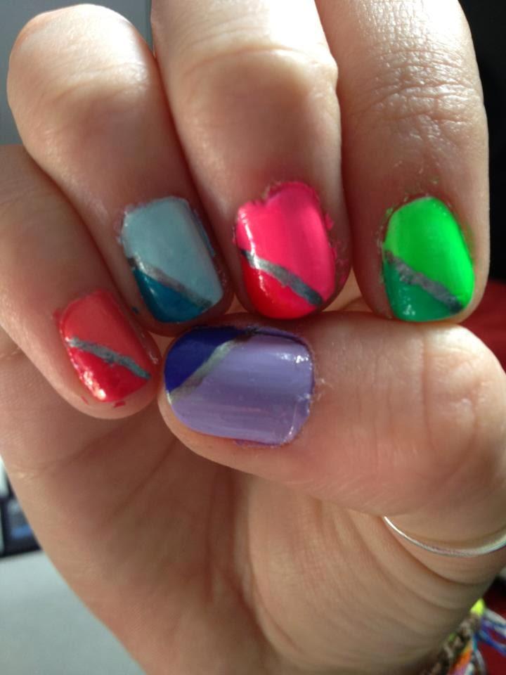 Amazing Ombre Neon Nails Ensign - Nail Art Design Ideas ...