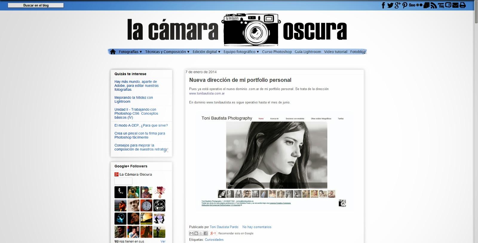 La Cámara Oscura - Tu blog de fotografía digital