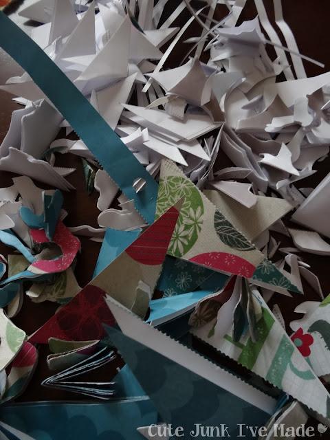 Paper Snowflake Curtain Tutorial - scraps