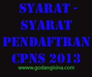 Persyaratan Berkas - Berkas  Pendaftaran CPNS 2013