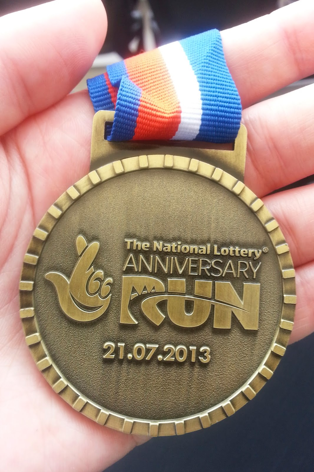 Couch to 5k National Lottery Anniversary Run Olympic Park medal