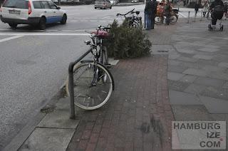 Eppendorfer Baum - Radwegwinterdeko