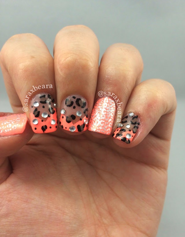 Nail Art Challenge April Favorite Cheetah Simply Spoiled Beauty