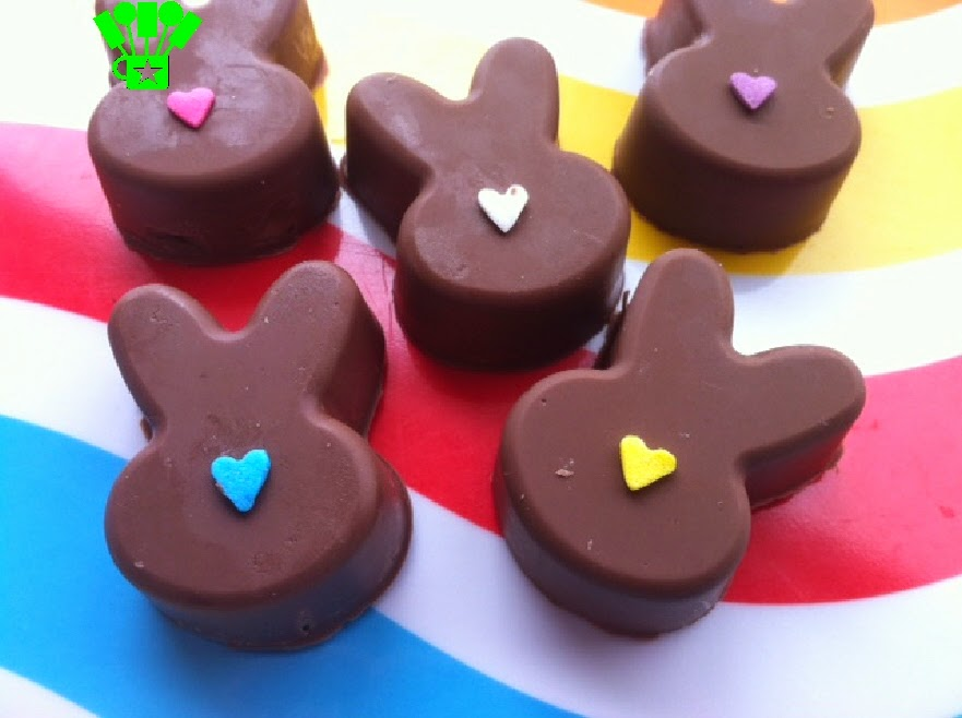 Chocolate Bunny Easter Rabbit Cookie Dough Truffles by Kandy Kreations