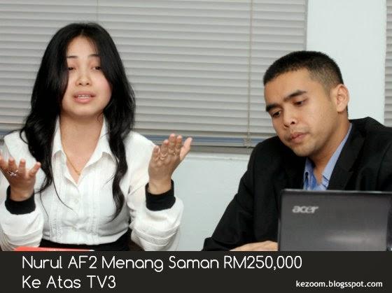 Nurul AF2 Menang Saman RM250,000 Ke Atas TV3