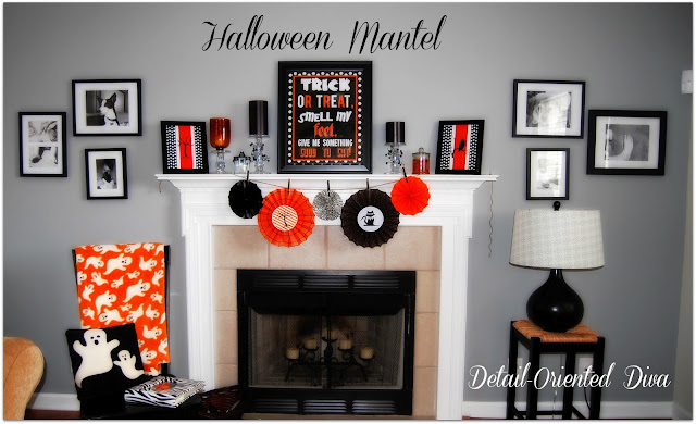 Halloween Mantel and Printables by Detail Oriented Diva