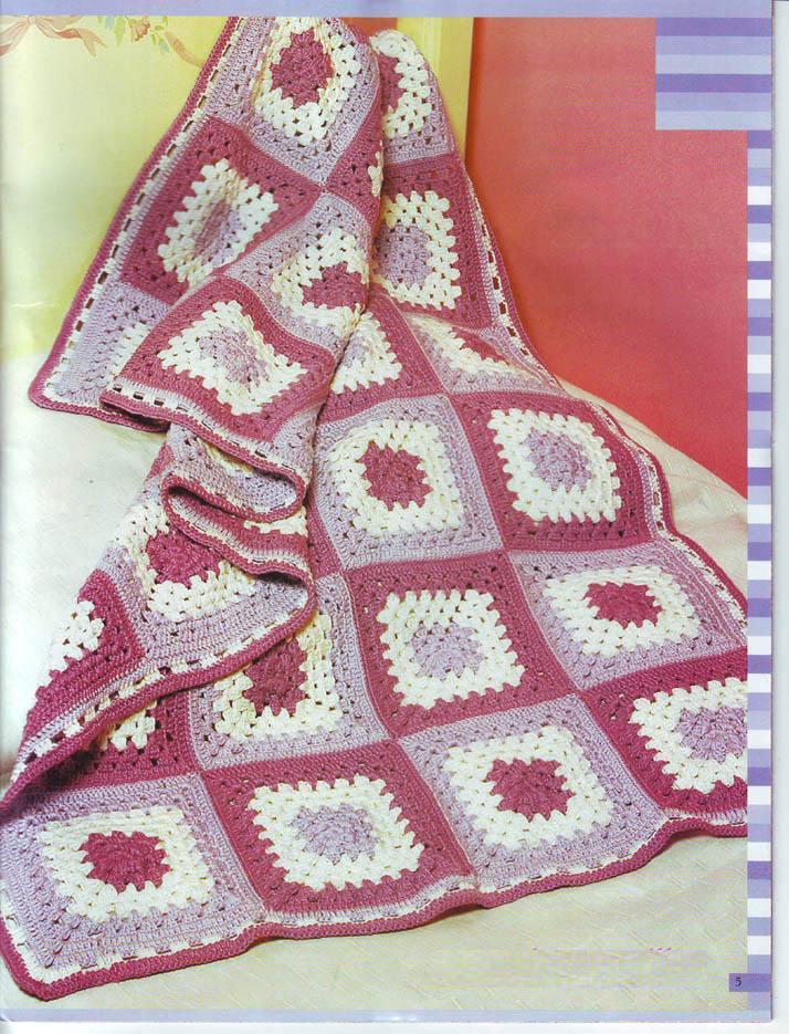 Mil cosas en el ba l manta a cuadros a crochet - Mantas de crochet a cuadros ...