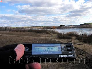 Измерение радиации у Петровичского водохранилища