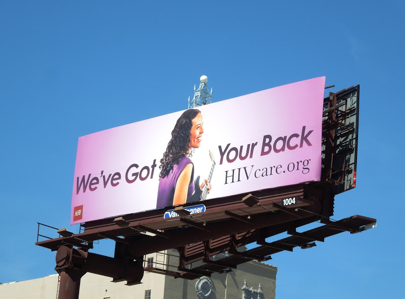 got your back HIV lilac billboard