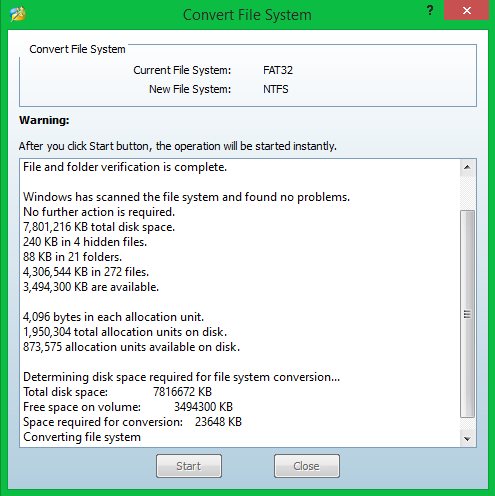 Convert File System