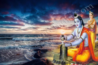 Rama Worshiped of Shiva