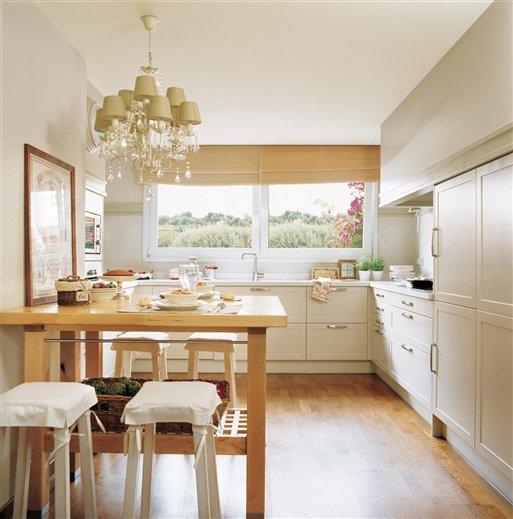 Decotips c mo ganar metros en la cocina y ubicar un - Mesas de cocina economicas ...